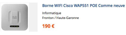Borne Wi-Fi Cisco WAP551