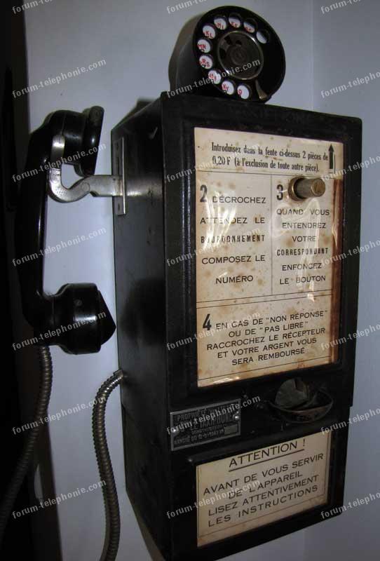 Branchement ancien Taxiphone de 1947