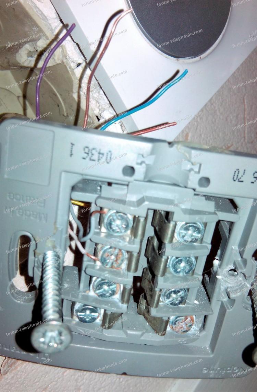 problème câblage téléphonique débit internet