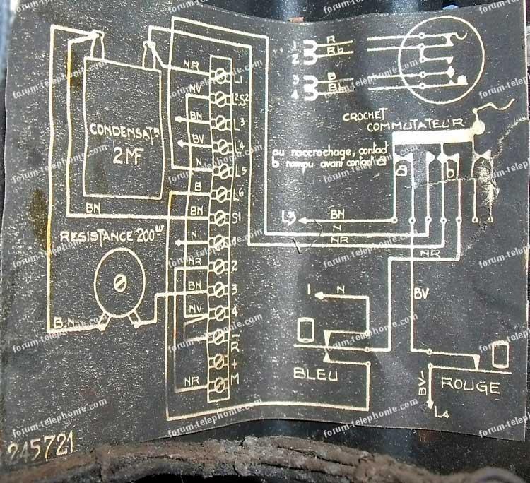 schéma ancien téléphone